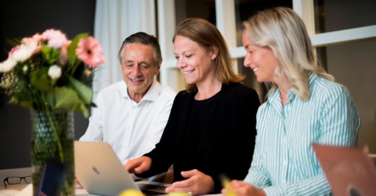 Helena med styrelsemedlemmar i Svenska PR-företagen