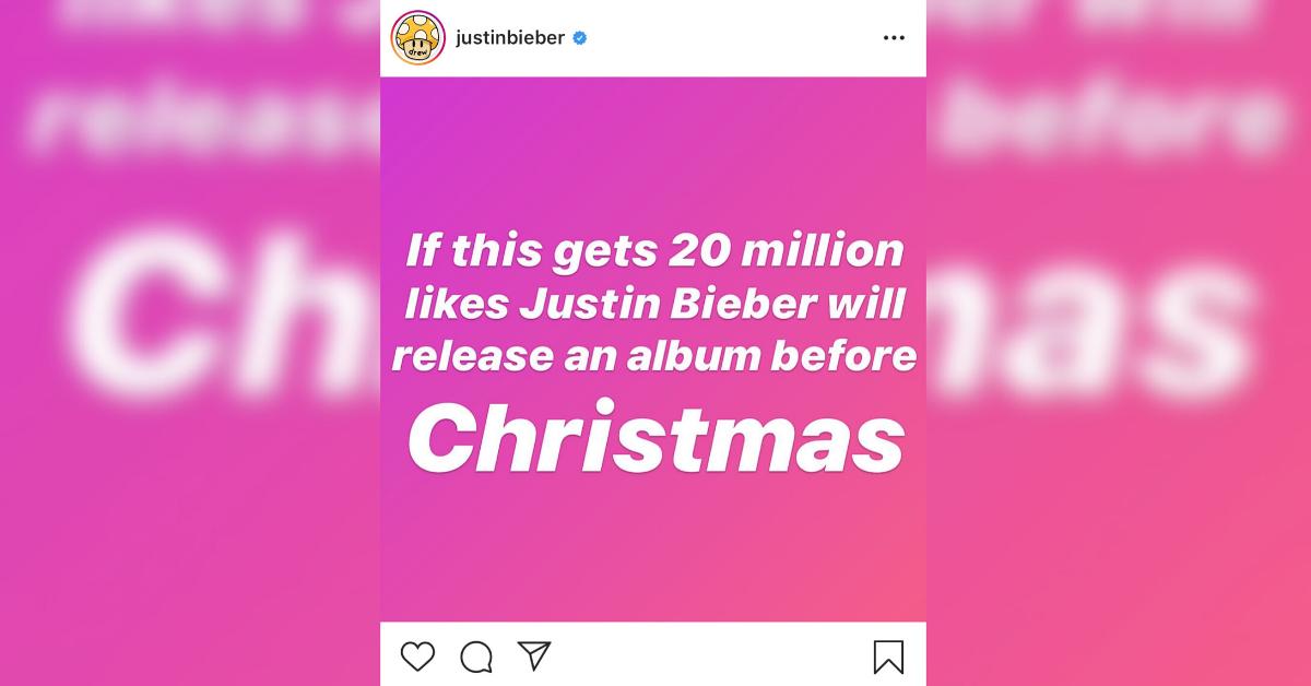 Justin Bieber engagerar följare på sociala medier