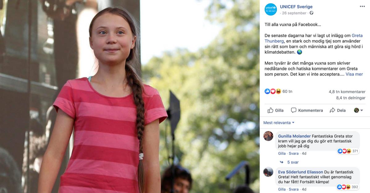 Greta Thunberg nätmobbas